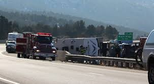 2 sent to hospital after driver loses control of truck pulling 2 ...