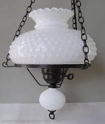 antique milk glass chandelier vintage hobnail milk glass hanging lamp chandelier three