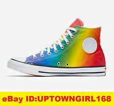 converse rainbow. converse chuck taylor all star hi pride geostar shoes rainbow lgbt us women new