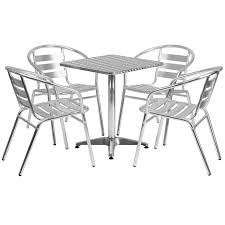stainless steel outdoor set f10 laminate outdoor set stainless table top w aluminum chair