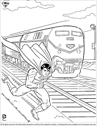 The superman character was created in 1932 (as batman), but appeared in comics 6 years later. Superman Coloring Picture For Kids Coloring Library