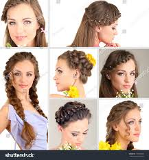 Diffrent Hair Style Collage Beautiful Girl Different Hairstyles Stock Photo 176005868 2063 by wearticles.com