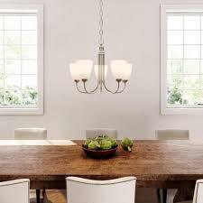 2 of 11 progress lighting gather collection 5 light brushed nickel chandelier
