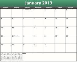 Monthly Calendar 2013 2013 Monthly Calendars Print Free Printable Pdf 2013
