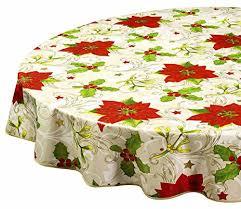 round tablecloths tablecloths vinyl table cloth table linens poinsettia 60 inch kitchen dining h2u0ffi0q
