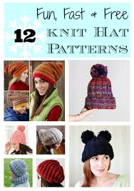 Free Knitted Hat Patterns Fascinating 48 Lightning Fast Free Knit Hat Patterns Stitch And Unwind