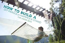How to Build a DIY Pergola Hammock Stand in a Weekend for Under $200