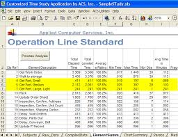 Time Study Excel Templates Standard Data Libraries Details Timer Pro Professional