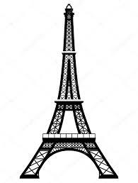 Francouzská Eiffelova Věž V černobílé Barvě Stock Vektor Kulyk