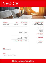Hotel Receipt Hotel Invoice Template Free Download Send In Minutes