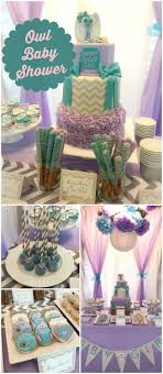 I'm loving this stylish owl baby shower! It has a purple and teal