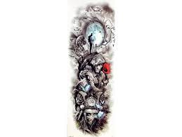 Vodeodolné Dočasné Tetovanie Motiv Voják Barevný