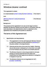 sample cleaning contract agreement window cleaning contract template