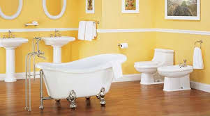 yellow bathroom color ideas. Yellow Paint And Claw Foot Bathtub Bathroom Color Ideas A