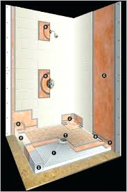 kerdi shower pan shower pans shower l ls prefabricated substrates shower with regard kerdi shower pan kerdi shower pan