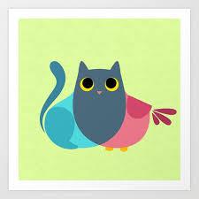 Artist Venn Diagram Owlcat Venn Diagram Art Print By Corpsing