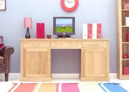 mobel oak hidden twin. Baumhaus Mobel Oak Large Hidden Office Twin Pedestal Desk T