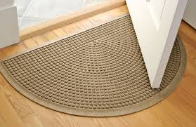 semi circle mat squares in entryway rugs throughout half ideas 2