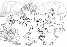 Small Picture Barnyard Animals Coloring Pages Coloring Coloring Pages