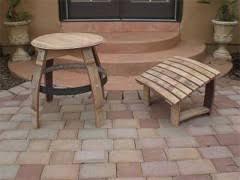wine barrel furniture plans. Wine Barrel Table, Footrest And Stool Furniture Plans -