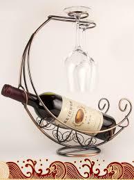 new 2016 creative fashion metal wine rack hanging wine glass holder pirate ship shape 3 colors