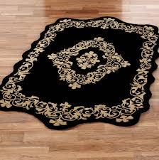 black and cream floor rugs