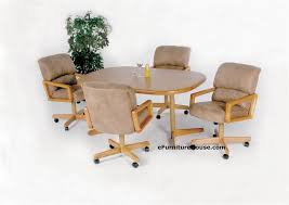F Douglas Dining Chairs With Casters