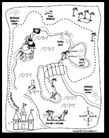 Small Picture Free Treasure Map Coloring Pages Download Printable Pirate