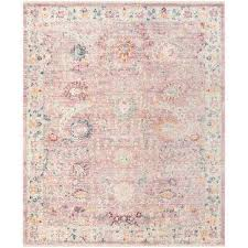 illusion rose cream 9 ft x 12 ft area rug