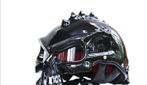 wild skull motorcycle helmet skull rider nyc