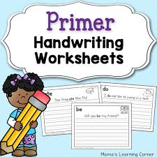 dolch primer handwriting worksheets for kids dolch primer words mamas learning