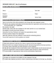 New Hire It Checklist New Employee Checklist Template 13 Free Word Pdf Documents