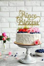 Prince And Princess Cake Topper Baby Shower Cake Topper Etsy