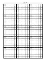 Math Answer Sheet With Graph Paper Grid By Mrssquier Tpt