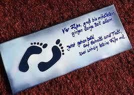 Baby Party Geburt Taufe Geschenk Spruch Leinwand Junge Blau 50 X 20