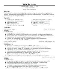 Sample Resume For Production Worker Production Worker Resume Sample