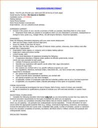 Typical Resume Format Gulijobs Com