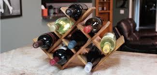 diy countertop wine rack