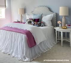 girls bed skirt. Simple Girls Gray Chevron Headboard And Tulle Bed Skirt In Girls K