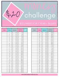 Accurate 52 Week Savings Challenge Chart Printable 52 Week