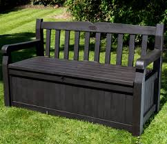 small image of iceni 2 seater storage bench dark brown wood effect