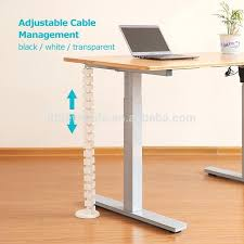 computer desk cord management table wire