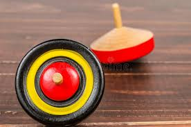 Wooden Spinning Top Game Old Colorful Wooden Spinning Top Toy Stock Photo Image of 41