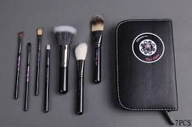 mac 24 piece professional makeup brush set in leather pouch