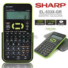 sharp scientific calculator. sharp el-533x green scientific statistic calculator 2line display 280 sharp a