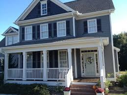 Grey Blue Exterior House Paint