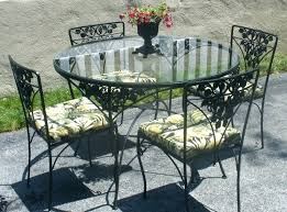 small patio table with umbrella hole interesting pendant in wrought iron patio table and 4 chairs