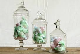 decorative glass containers with bird lids storage jars uk