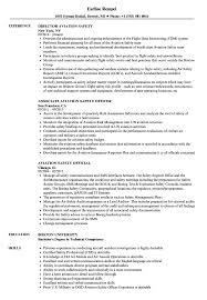 Sample Aviation Resume Aviation Safety Resume Samples Velvet Jobs 14