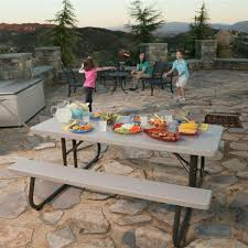 stylish lifetime 6 folding table lifetime 6 ft folding picnic table with benches 22119 the home